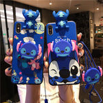 Stitch Lanyard foothold  Phone Case for Huawei &Honor