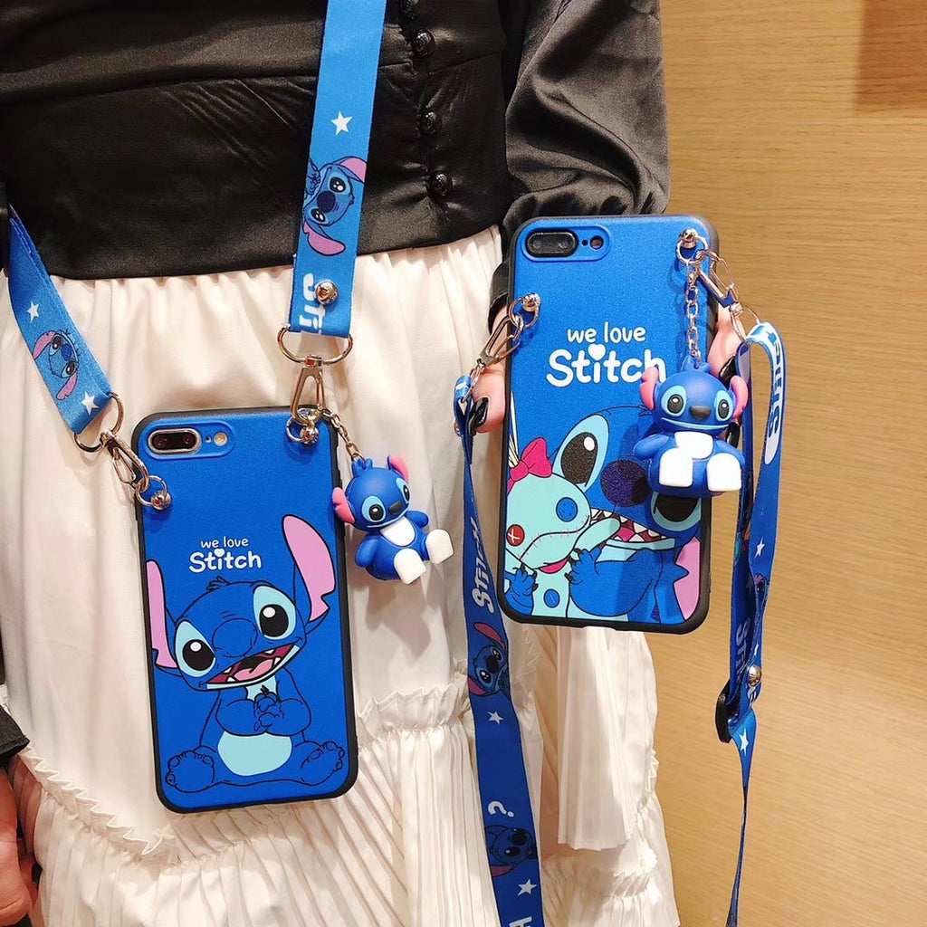 Stitch Lanyard foothold iPhone Case.