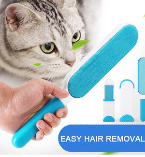Pet Hair Remover Brush Cat dog Fur Brush Base Double Device Dust Static Magic Lint Brush Cleaners Cloth cleaning tools