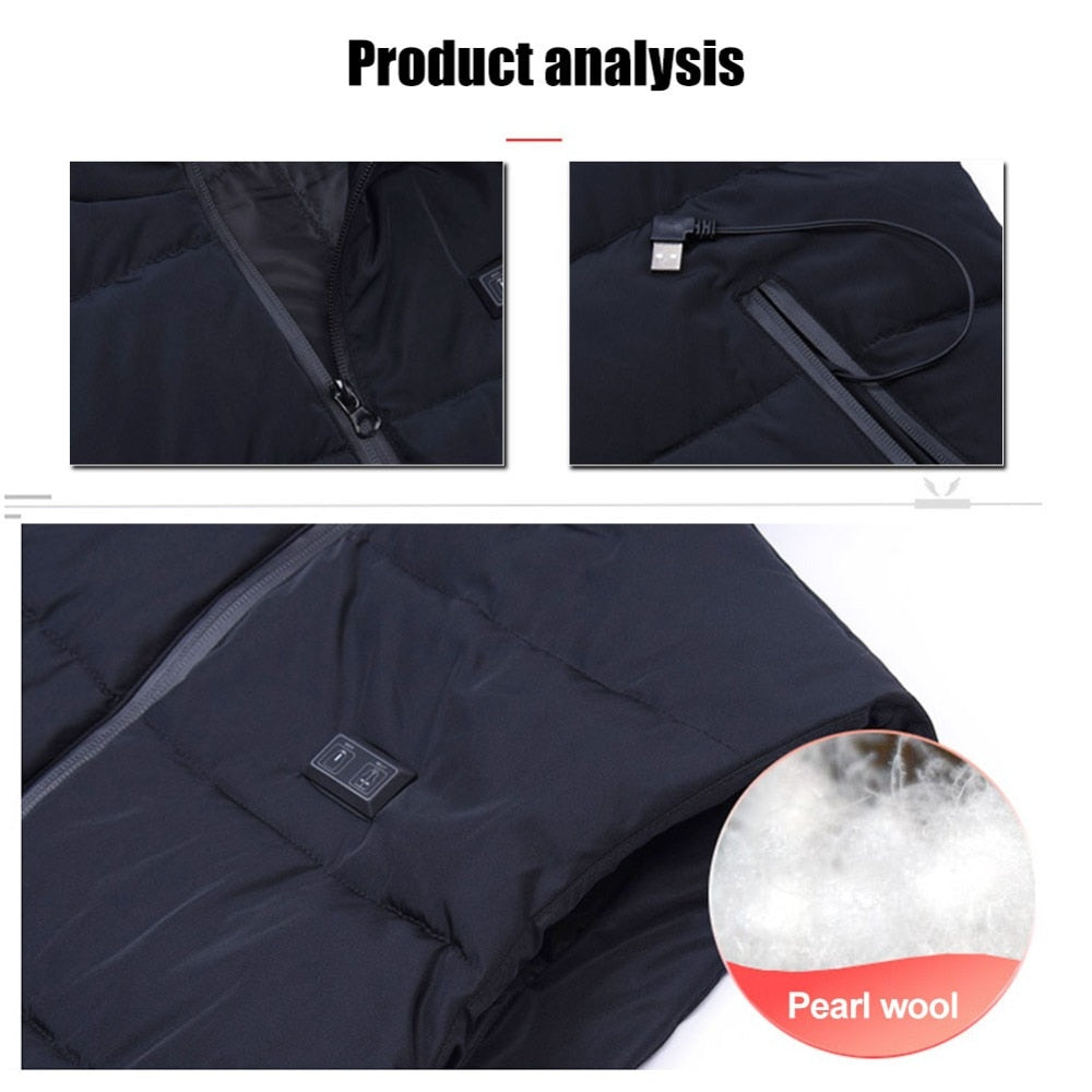 Intelligent USB Heated Vest Jacket