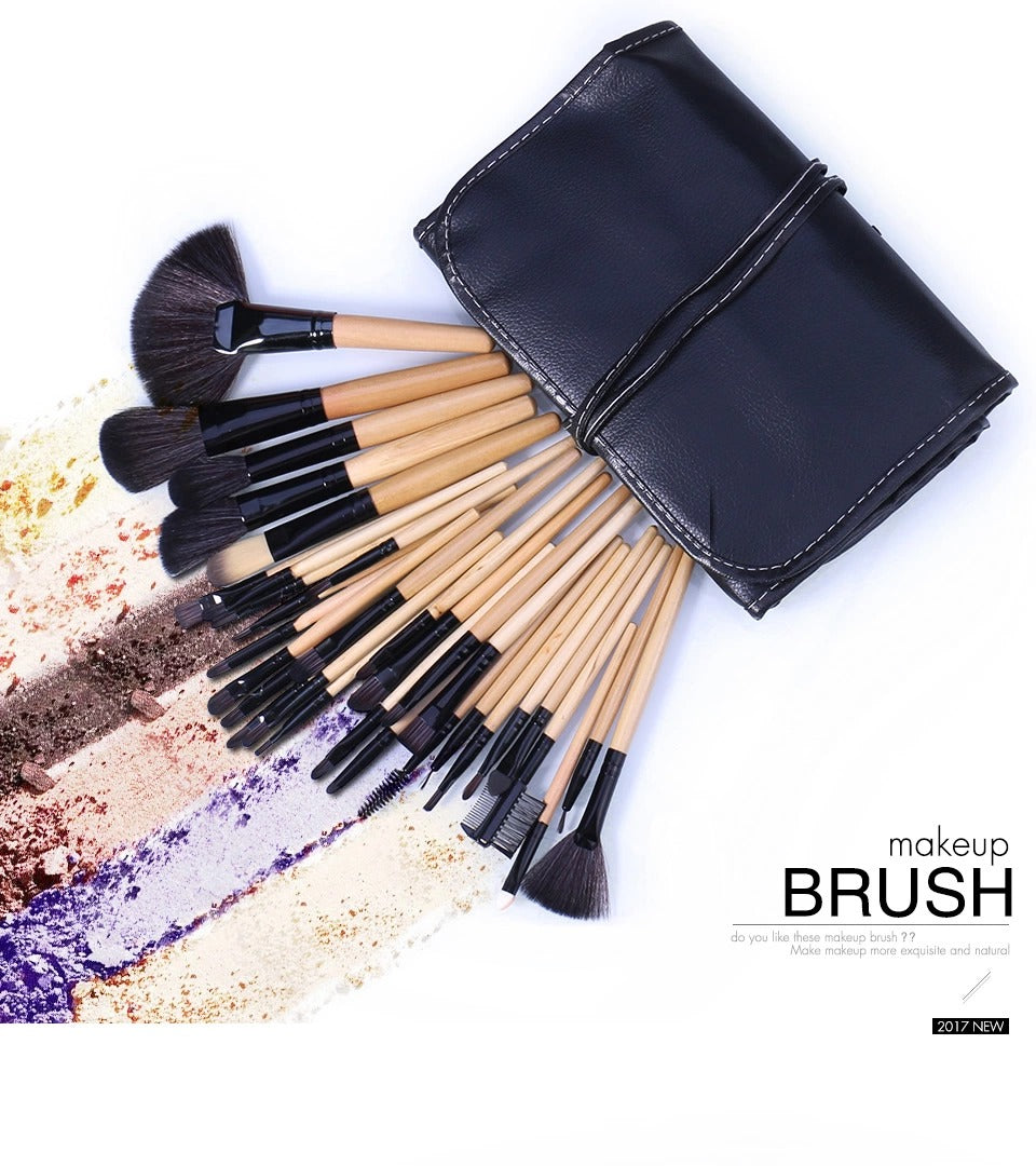32pcs Makeup Brush kit+ Pouch  Case.
