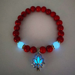 Luminous Lotus Flower Bracelet