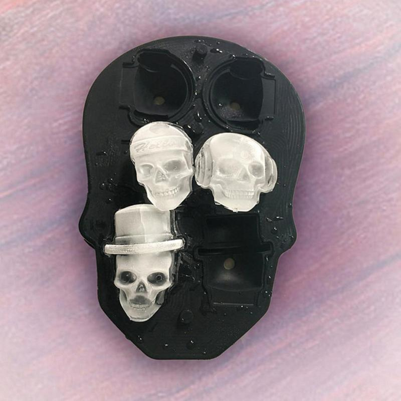 3D Halloween Skull ice (Sphere Ball) Mold