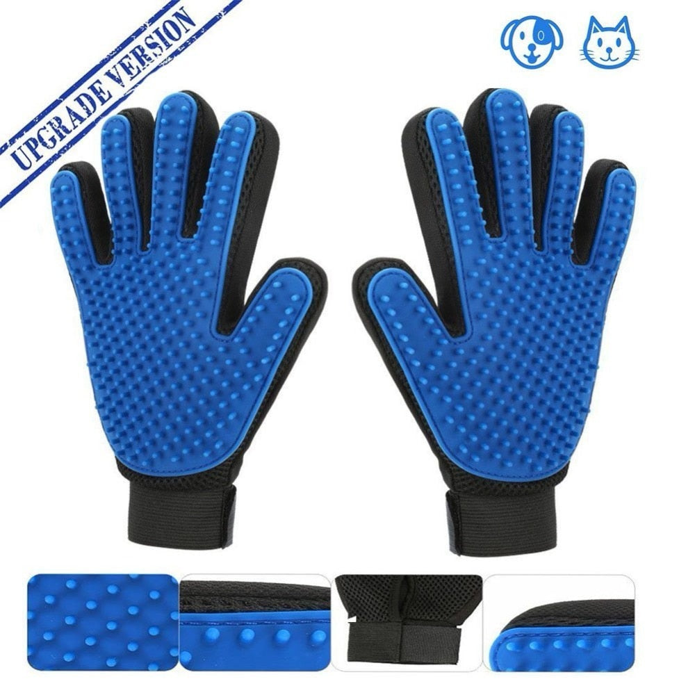 AMAZING PET GROOMING GLOVES