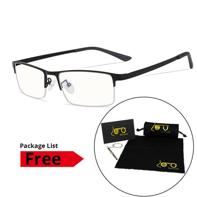 Men's Blue Light Blocking Glasses for Computer Eyeglasses Blaulicht Gaming Protection Blue Ray Goggles Anti Radiation Antiglare