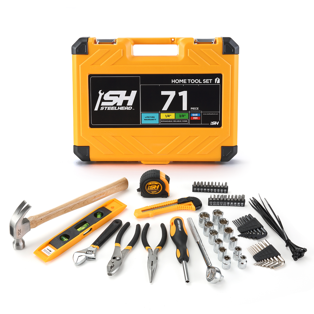 Home Tool Set (71 Piece) - Hand Tool Sets - MOTORHEAD Tools