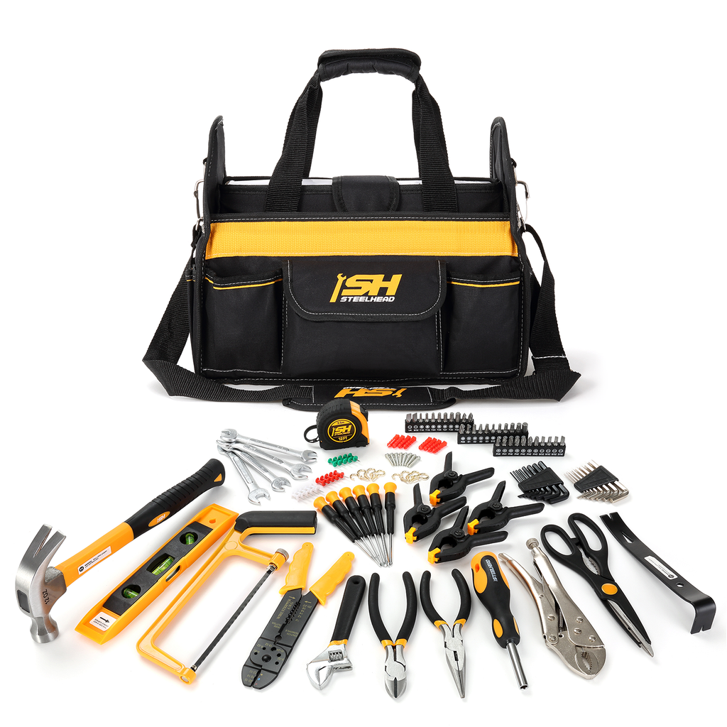 Home Tool Set (117 Piece)-Motorhead & Steelhead Tools