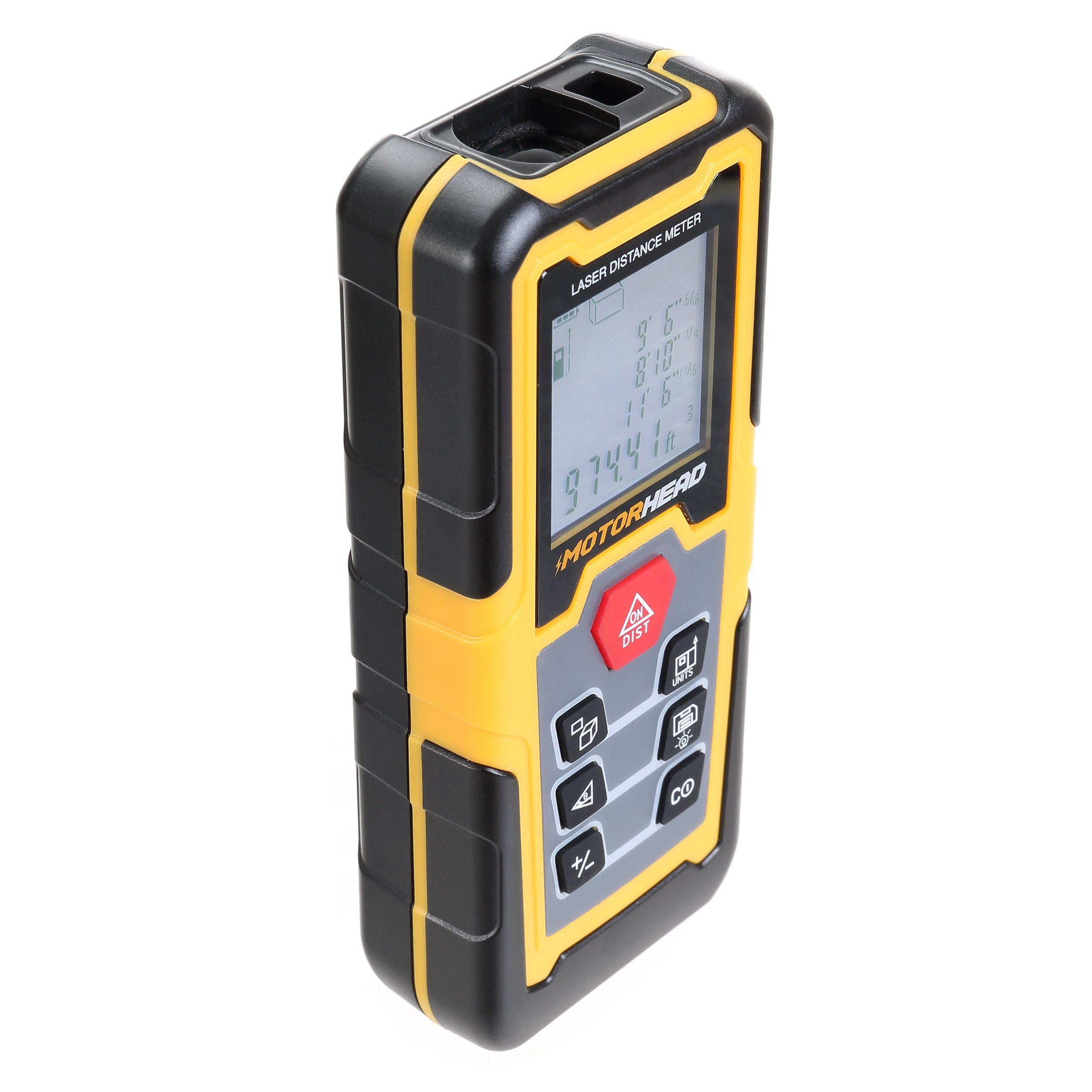 196 ft. Laser Distance Measure with Bubble Levels