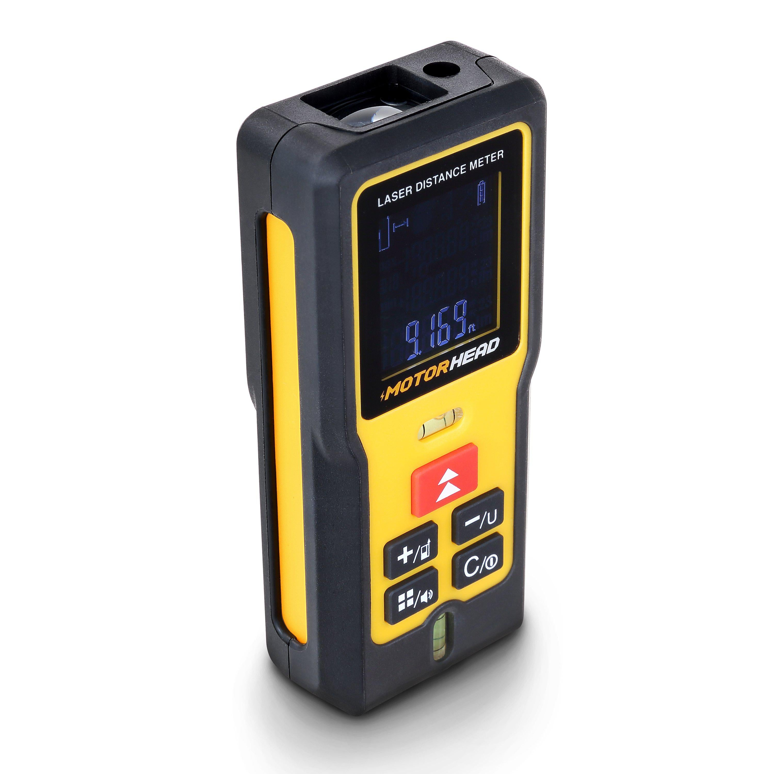 196 ft. Laser Distance Measure with Digital Level and Angle Finder - Measuring Tools - MOTORHEAD Tools