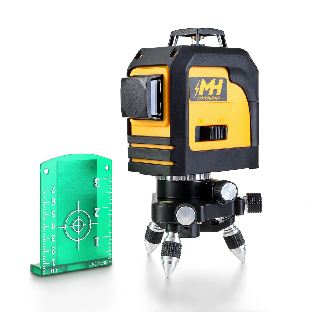 165 ft. Self-Leveling Degree Green Cross-Line Laser Level - Measuring Tools - MOTORHEAD Tools