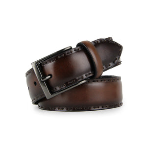 Barnns Rustic Hand Stitched Calf Leather Belt 817090