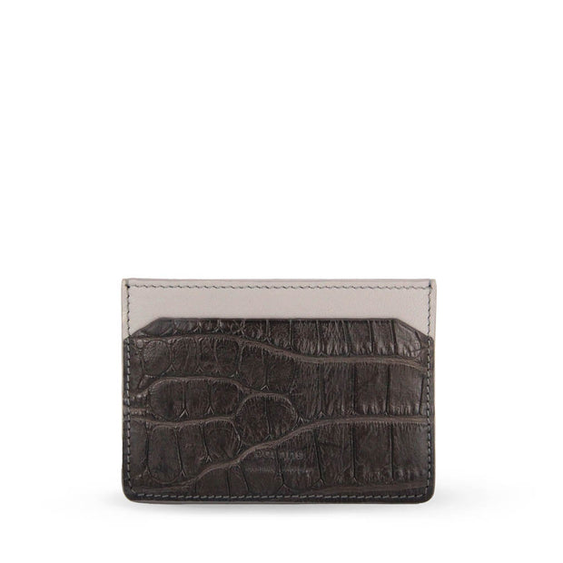 Tanglin Crocodile Leather Card Holder (Brown)