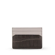 Limited Edition Tanglin Handcrafted Crocodile Leather Card Holder - Brown