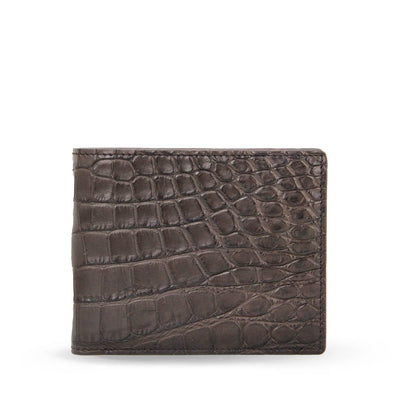 Limited Edition Tanglin Handcrafted Crocodile Leather Slim Billfold Wallet - Brown