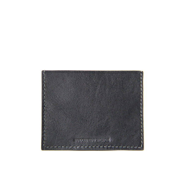 Terra Crocodile Leather Card Holder (Slate Blue)