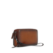 Aurora Triple Compartment Clutch (Cafe)