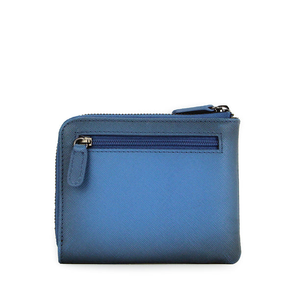 Amos Compact Travel Wallet (Blue)