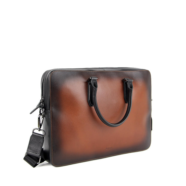 Arthur Leather Briefcase (Cafe)