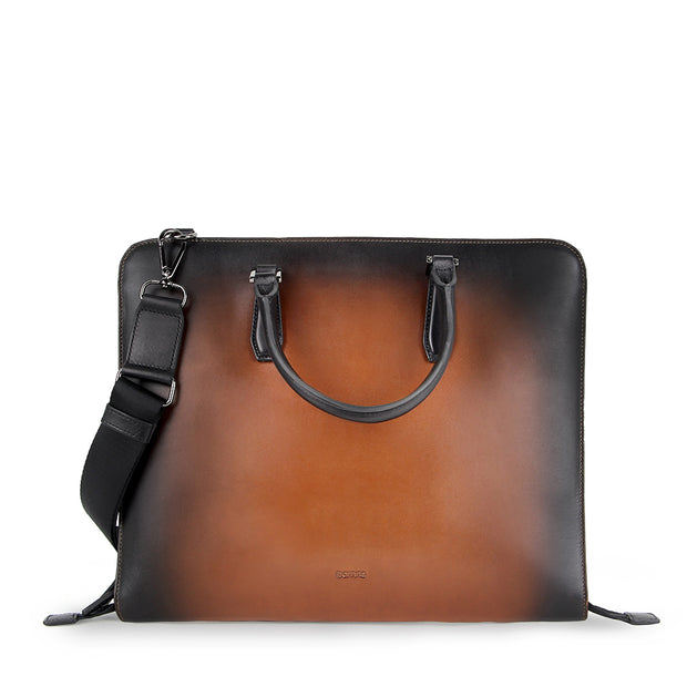 Arthur Leather Document Bag (Cafe)