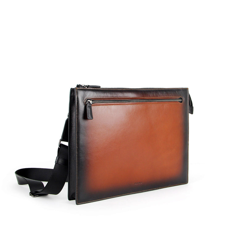 Arthur Leather Messenger Bag (Cafe)