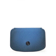 Aurora Leather Cable Snap Organizer (Blue Saffiano)