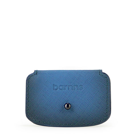 Aurora Leather Cable Snap Organizer - Blue Saffiano