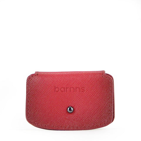Aurora Leather Cable Snap Organizer (Red Saffiano)