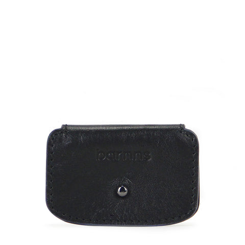 Aurora Leather Cable Snap Organizer -  Classic Black