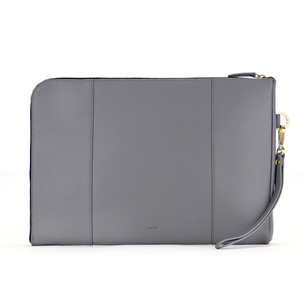 Liberty Woven Leather Laptop Sleeve (Grey)