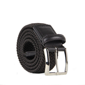 Marco Woven Belt with Leather Trim 8300 Cafe (Cafe)