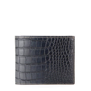 Limited Edition Rafferty Handcrafted Alligator Leather Slim Billfold Wallet - Black