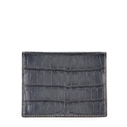 Limited Edition Rafferty Handcrafted Alligator Leather Slim Card Wallet - Black