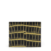 Limited Edition Rafferty Handcrafted Alligator Leather Slim Card Wallet - Gold