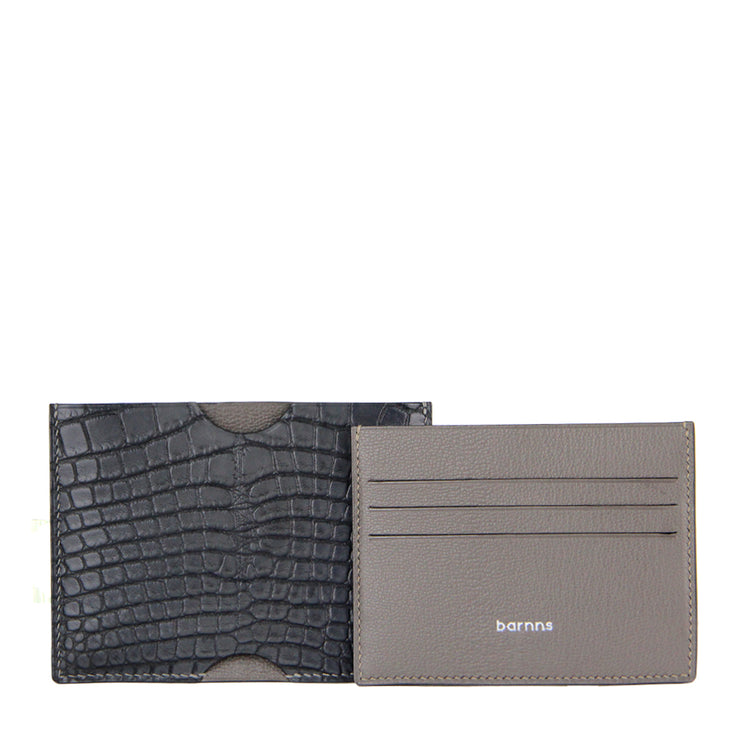 Limited Edition Rafferty Handcrafted Alligator Leather Ultra-Slim Card Holder - Black