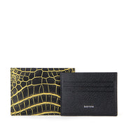 Limited Edition Rafferty Handcrafted Alligator Ultra-Slim Leather Card Holder - Gold