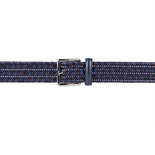 Sandro Multicoloured Woven Leather Belt (Blue)