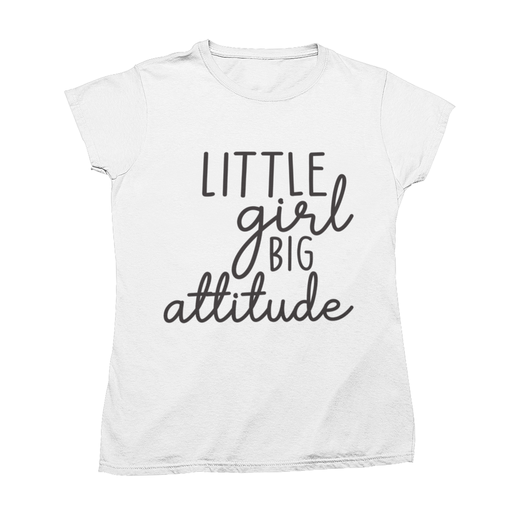 "Tricou ""Little Girl Big Attitude"""