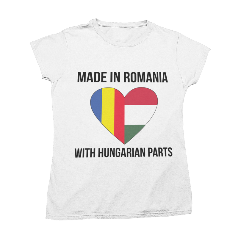 "Tricou ""Made with Hungarian Parts"""