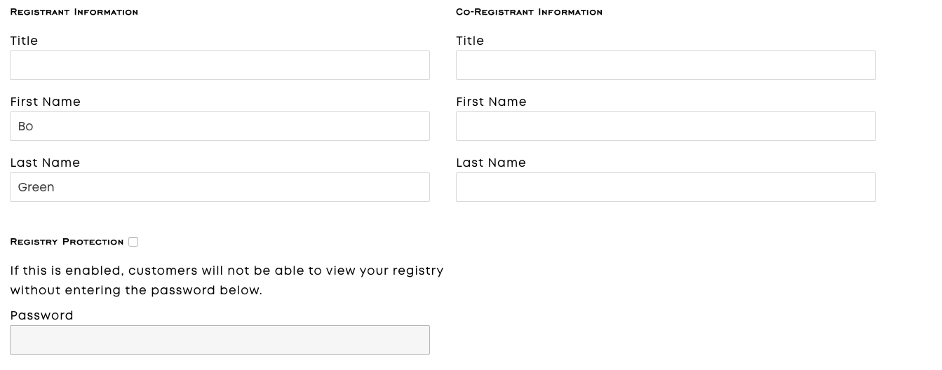 Registry Co-Registrant Information