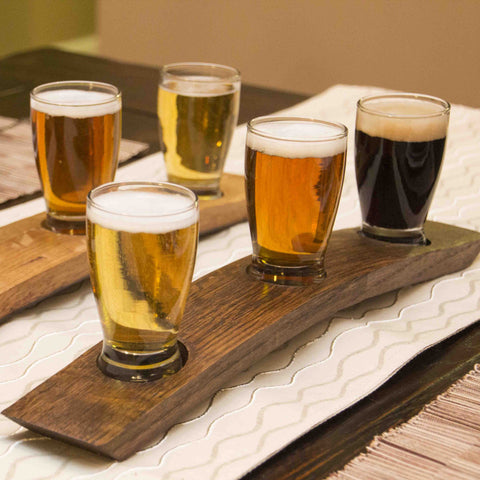 Barrel-Art Beer Flight of 4 Glasses