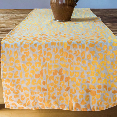 Cheetah Ombré Linen Table Runner