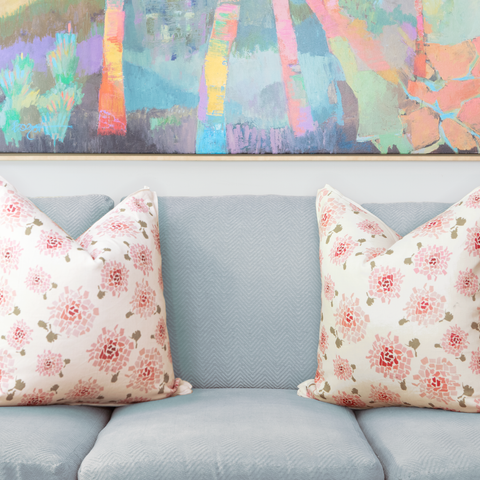 Fifty State Hydrangea Square Pillow