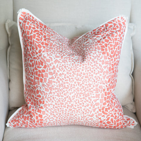 Fifty State Leopard Coral Square Pillow
