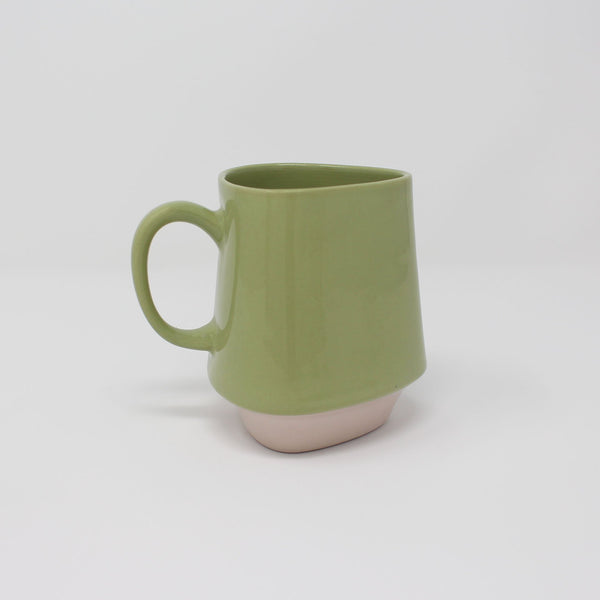 E. Lo Ceramic Art Bottom Curve Mug no.2 Avocado Purple