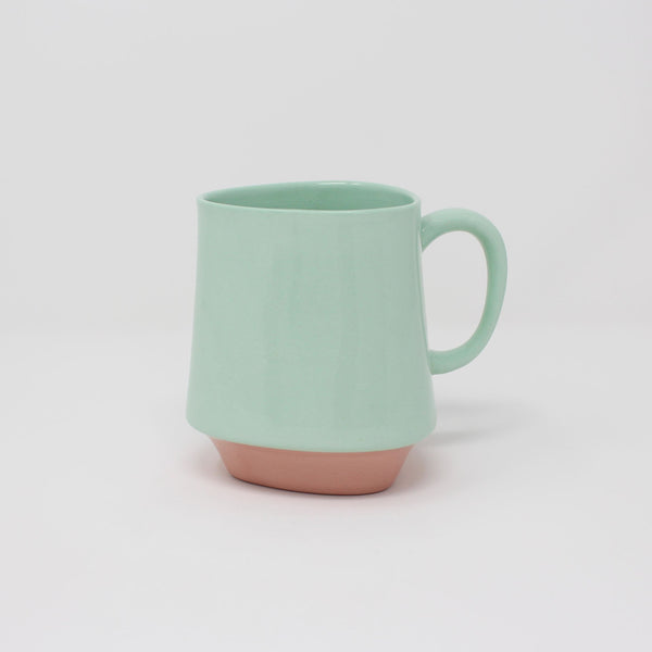 E. Lo Ceramic Art Bottom Curve Mug no.2 Bermuda Pink