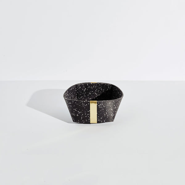 Rubber & Brass Basket, Medium