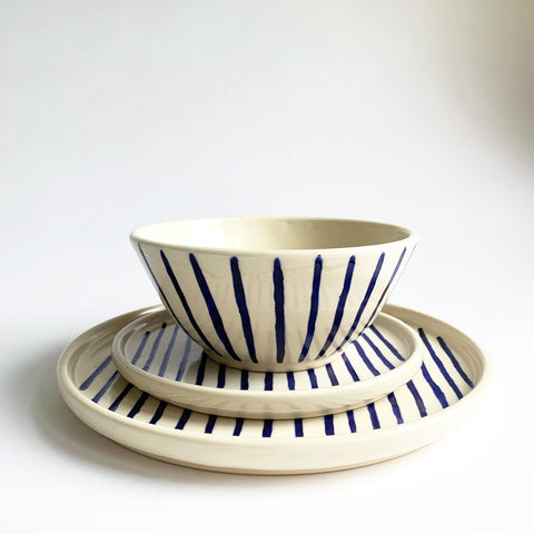 Blue Stripes Place Setting