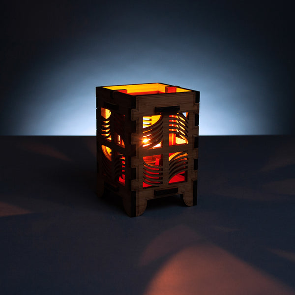 Waves Bamboo Candle Lantern