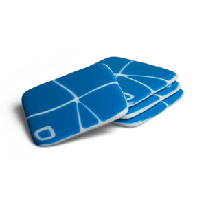 Egyptian Blue Mod Squad Coasters, Set of 4