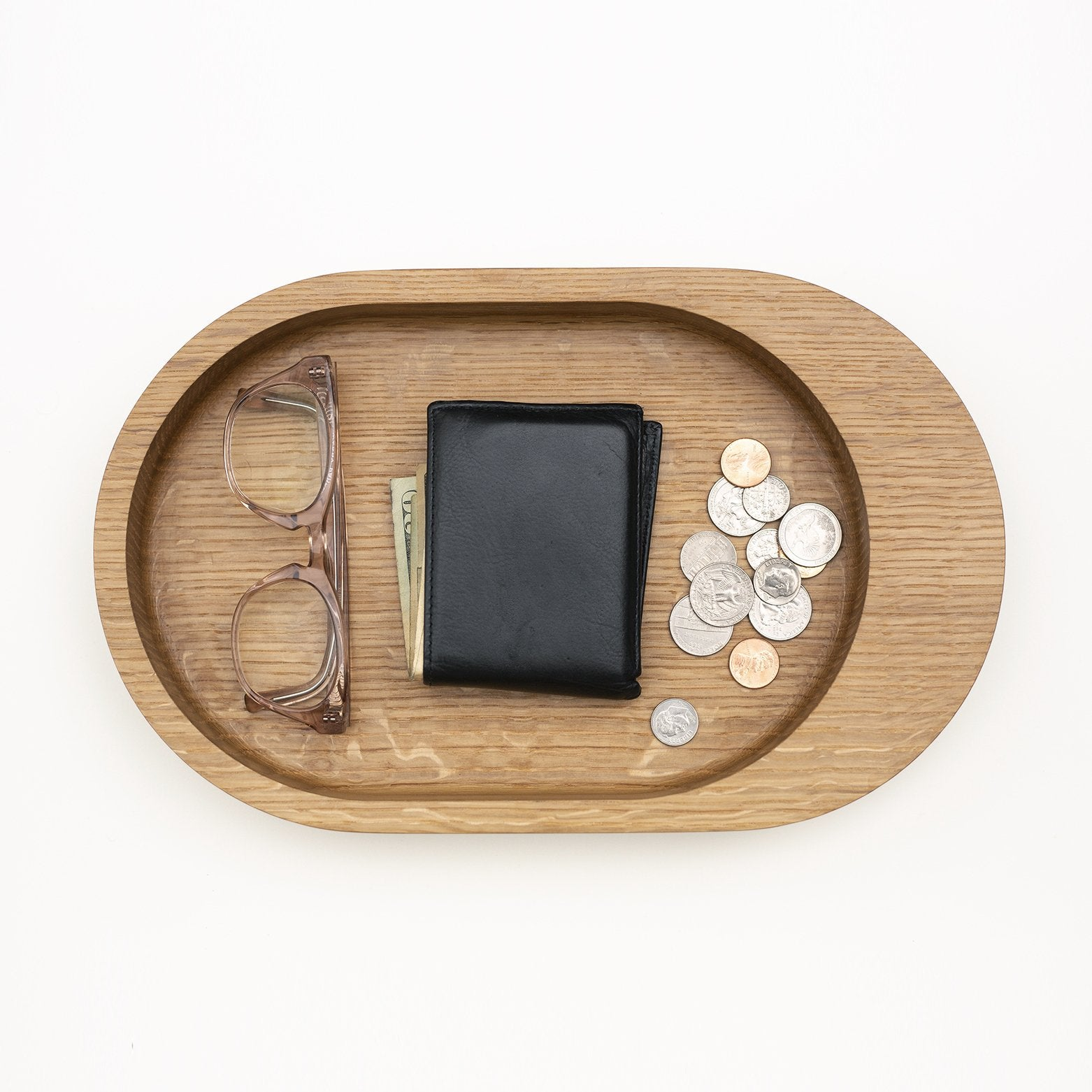 Damien Oak Catchall Tray